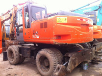 Used hitachi excavator ZX160W, secondhand mobile excavator Hitachi excavator ZX160W, old/half new ZX160W Hitachi excavator