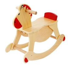 Hot selling ride on horse toy wooden rocking horse toys pony horse toy for kids