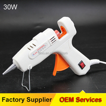 Hot glue gun parts melting coating 30w white snti-drip adhesive spray gun for crafts diy