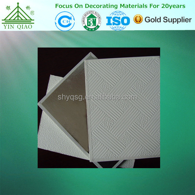 Office Hotel Interior Decoration Acoustic Gypsum Ceiling Tile/Panel/Board