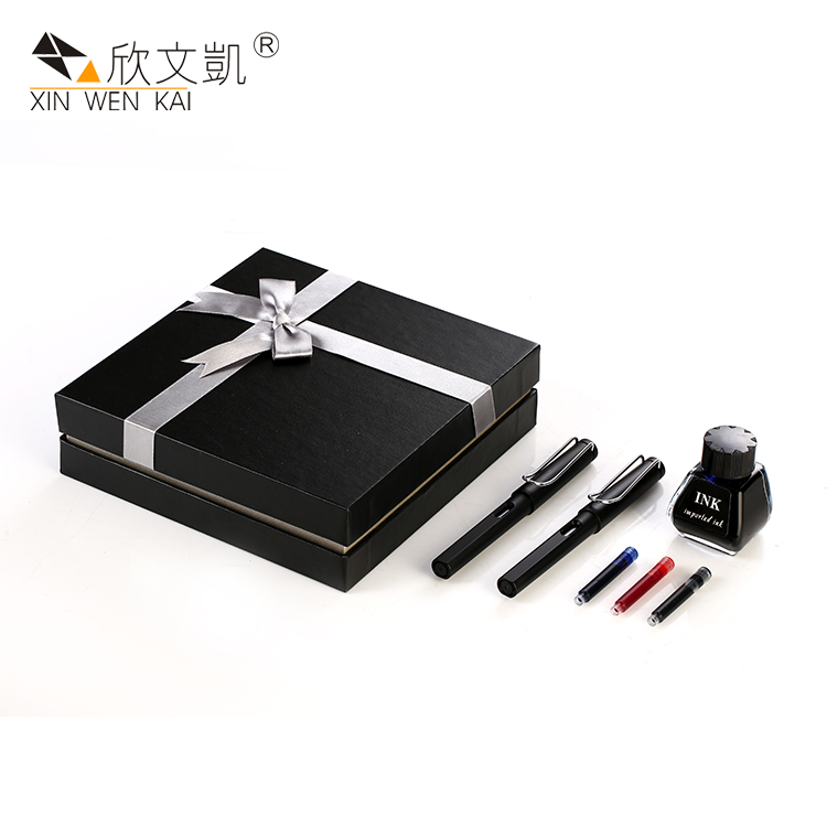 Manufacturing Company Promotional Luxury Birthday Gift Plastic Fountain Pen Set With Box