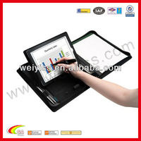 Leather new product for ipad with notepad