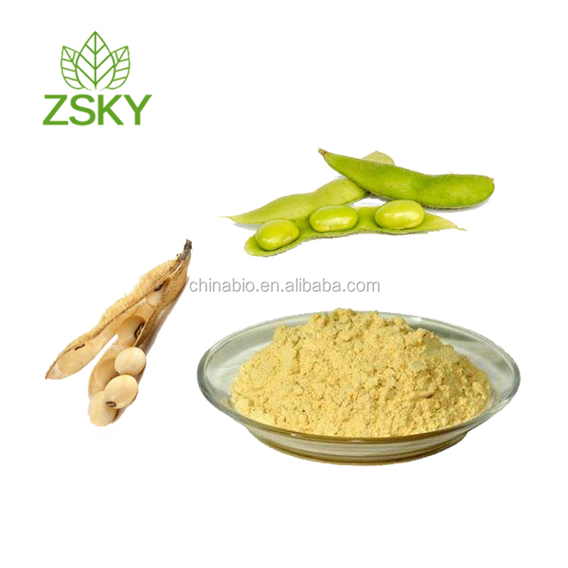 GMP Factory Supply Natural Soy Bean Extract Powder Soy Isoflavones 40% Food Grade