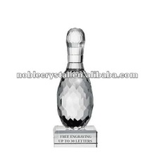 Noble Crystal Pedestal Bowling Corporate Award Trophy