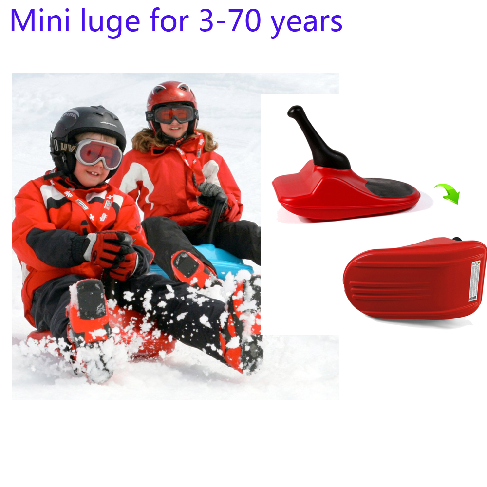freestyle mini luge neige snow sled race sport one person all ages compact lightweight
