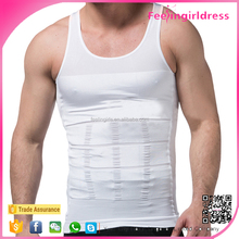 Cheap Stomach Trimmer Undershirts Pure White Custom gym Stringer Vest