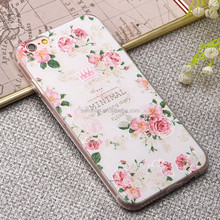 new products flower design embossed super thin tpu mobile phone cases for iphohe6/plus