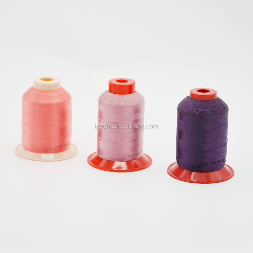 High tenacity industrial polyester filament thread 630D/3 for sewing leather shoes
