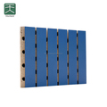 MDF Sound Absorption Grooved Acoustic Panels with UV or PU Painting for wall and ceiling decoration