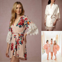 Robe De Mariage Wedding Dresses Soft Cotton Floral Bridesmaids Robes Sleeping Robe Women For Weddings Bridal Party Gifts