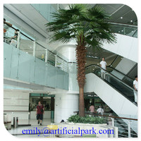 house hall indoor decorative artificial palm tree with factory price