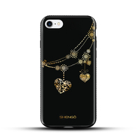 SHENGO New Design IMD Double Layers With Special 3D Gold Coaitng design Beautiful Mobile Phone Case for iPhone 5G/5S/5E