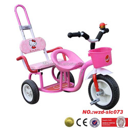 cheap kids tricycle with back seat 3 wheel children tricycle