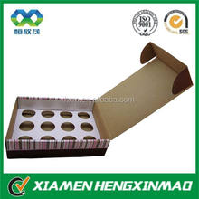 Fancy custom food grade decorative paper cake box design with OEM logo