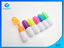lovely pill shape highlighter ,pill fluorescent marker pen