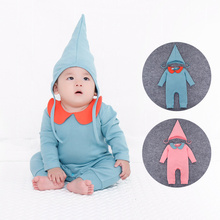 Spring Baby Girls Clothes Solid Color Blank Infant Hat Rompers For Wholesale