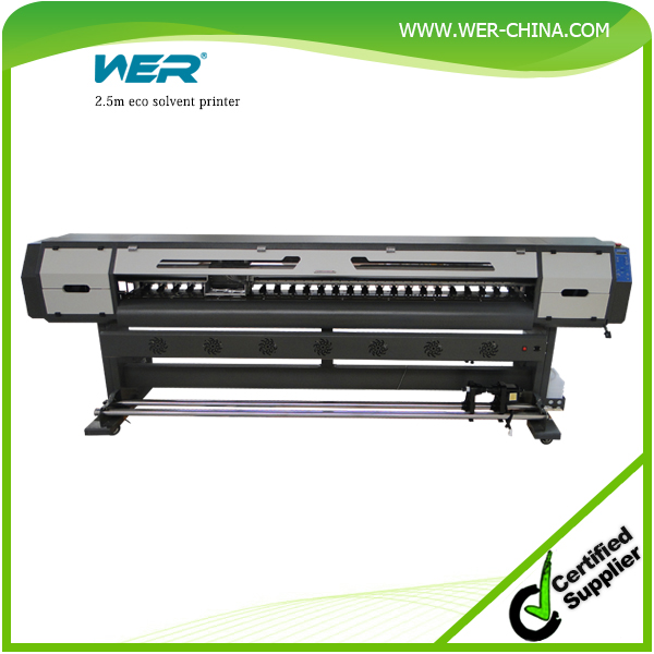 Popular high print resolution 2.5m WER ES2502 vinly sticker machine eco solvent printer, vinyl sticker printing machine