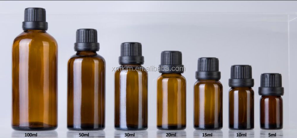 New arrive brown glass essential cosmetic oil bottle set