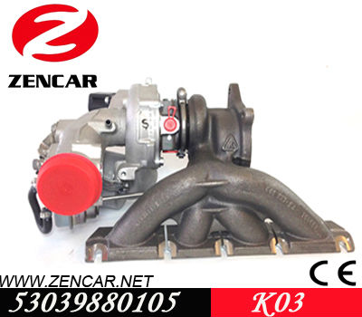 Skoda Octavia II 2.0 TSI turbocharger for car with BWA - BPY Engine 53039880105