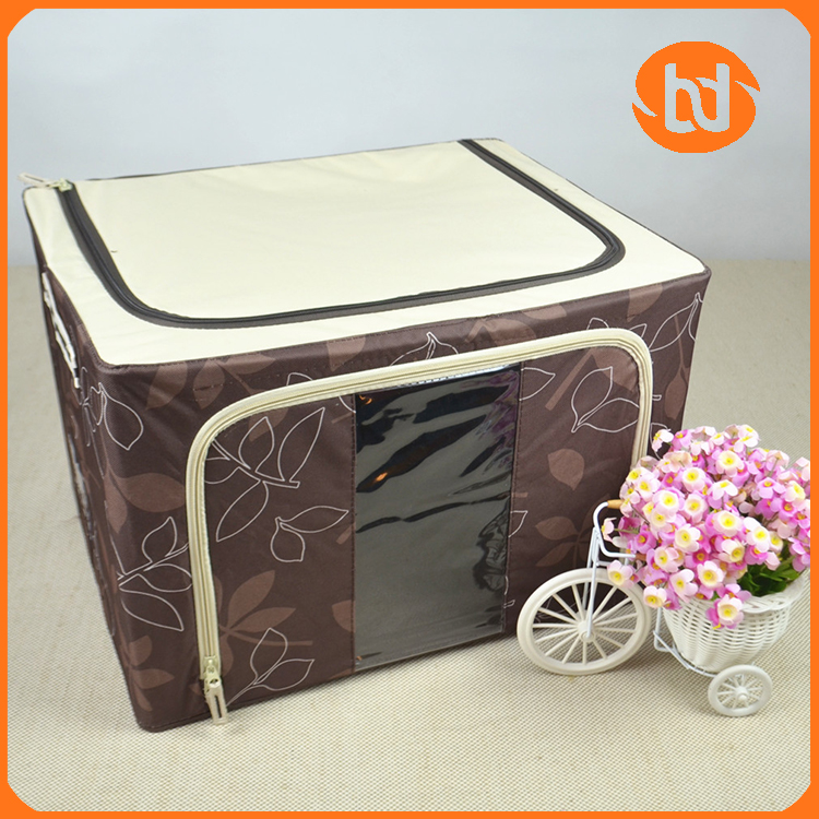 Foldable clothes storage box with Steel frame