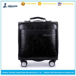 hot sale 16 inch leather luggage men PU leather luggage
