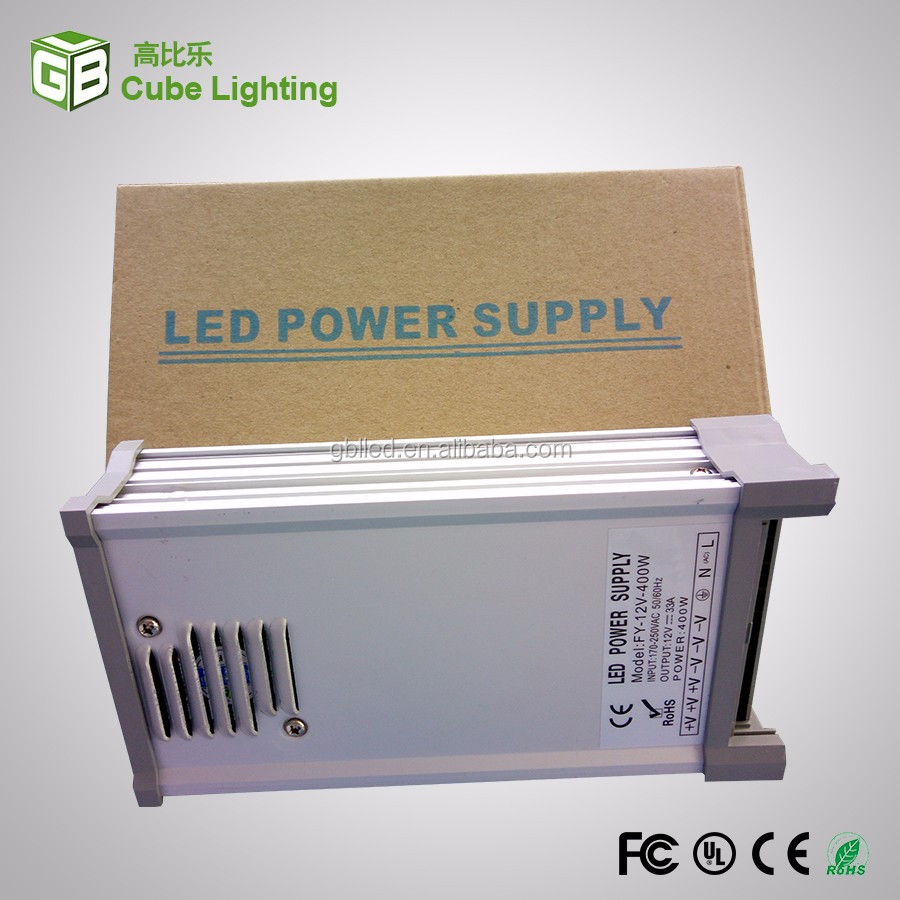 400W 12v 24V single output rainproof IP65 ac/dc LED power supply for logo advertising board
