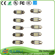 6PCS 31mm 3528 SMD LED Car Interior Dome Light Lamp Festoon White Bulb Light Festoon LED Licence Plate light 12-24v DC