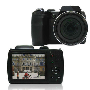 SLR digital photo camera with 16.0MP CMOS and 21X optical zoom