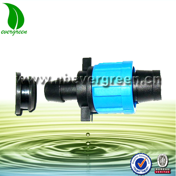 "PVC Offtake for tape watering system Irrigation fitting Drip Tape 5/8"" Loc x 1/4"" Barb drip irrigaiton fitting"