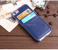 New Design Leather Cover With Two Card Pocket For 6G 6plus Mobile Phone Case