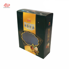 luxurious tea paper box package with embossing printing