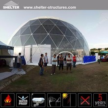 Luxury geodesic dome tent with pvc fabric and steel pipes