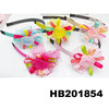 beautiful colorful ribbon flower girls hair accessories for little girls