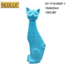 Resin flocking cute cat for gift