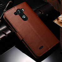 High Quality Wallet Card Holder Leather Case For LG G3 New Phone