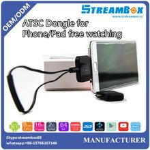 2017 factory price ATSC ISDB-T DVB T2 DVBT Pad TV for Android pad portable mini USB digital TV tuner