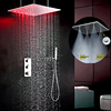 mist shower heads temperature control led color change20 inch rain mist shower heads
