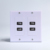 4 ports USB2.0 Wall Plate Socket Charger Outlet American inline panel