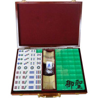 Luxury Green Crystal Glitter Japanese Mahjong Set