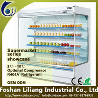Supermarket refrigerator for storage of fruits to buy