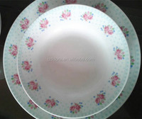 hot neweat porcelain soup plate/ceramic soup bowl with spoon & plate