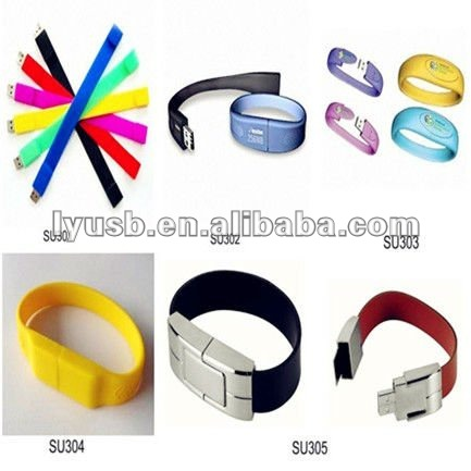 different shape wristband pendrive 2gb,bracelet shape usb flash memory 4gb,watch shape flash memory usb 8gb