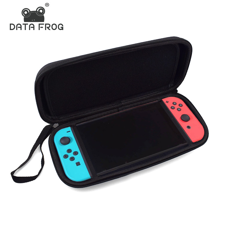 Data Frog Carry Case for Nintend Switch Travel Carry Bag Shell Pouch with 1PCS Screen Protector for Nintendo Switch
