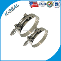 stainless steel Marine T bolt pipe clip/hose clamp for pipe fitting