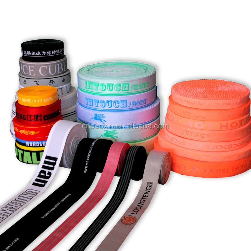 Custom 4cm Printed stretch ribbon sewing elastic tape for garment