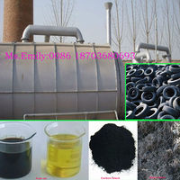 Waste Plastic oil refining machine /tire oil pyrolysis machine with CE 0086 18703680693