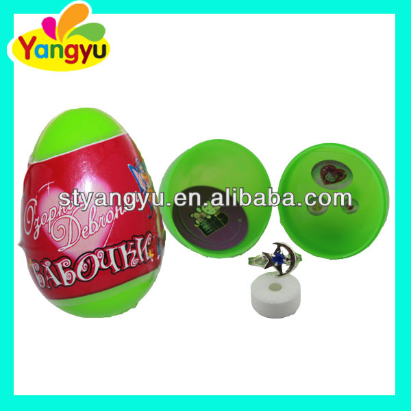 Plastic candy toy big surprise egg toy candy for kids,candy with toy