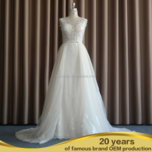 SW16689 Hot Sale Long Train Heavy Hand Bead real sample Luxuy wedding dresses with diamonds and crystals