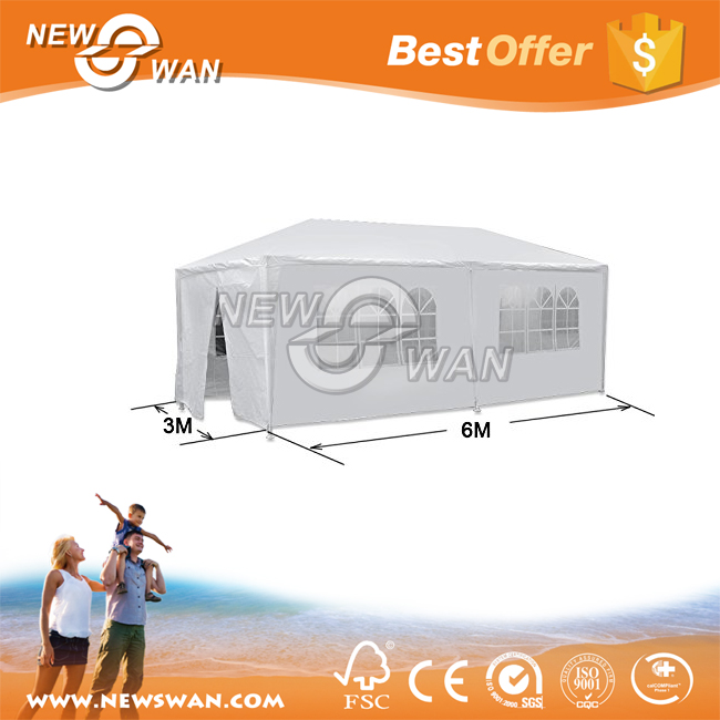 10 x 20Feet Outdoor White Canopy with 4 Sidewalls Party Wedding Tent Cater Event