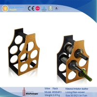 Brand new customized handmade wooden wine rack foldable leather wine rack